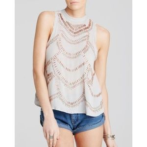 Free People Ferris Wheel Embellished Top S